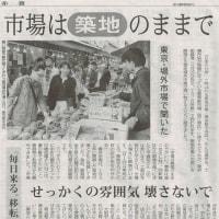 #akahata 市場は【築地】のままで/「毎日来る。移転には反対だ」 東京・場外市場で聞いた・・・今日の赤旗記事