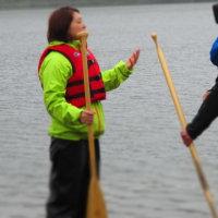 北海道のTV局(HTB)がポロト湖のレンタルカヌーを取材に来ました。