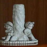 石粉粘土の人形