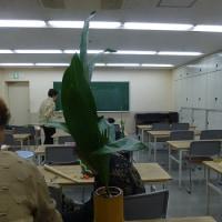 今年初めてのいけ花教室(初春を活ける)