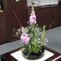 市長室の花(1月10日)