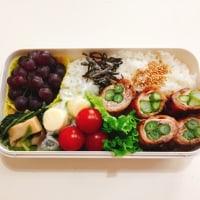 アスパラの肉巻きのお弁当と 食の三原色
