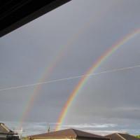 ☆虹が伸びていく。。。