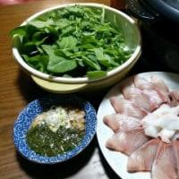4月23日(日)間引き菜のしゃぶしゃぶ