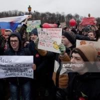 ANTI-CORRUPTION RALLIES IN RUSSIAロシア各地で政権へ抗議集会
