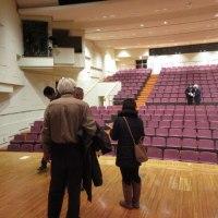 チャリティーコンサート会場の下見。