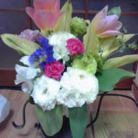 花束を母に