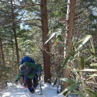 冬の笹ヶ峰南尾根