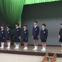 児童朝会(次年度新委員長挨拶)