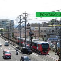静岡鉄道は御門台-狐ヶ崎の風景 (A3002と富士山・・2017年5月)