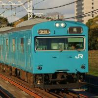 2016年12月6日 阪和線 浅香 大和川橋梁 103系 244 HK608編成