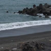 物部川河口の太平洋