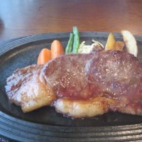 三原のたこやきとステーキ
