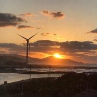 高山(こうやま)に沈む夕陽