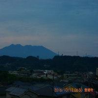 10月12日、朝の桜島