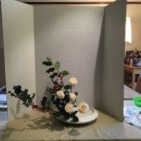 盛り花 傾斜 ヒイラギ バラ