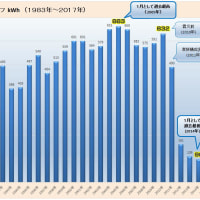 2017年1月の電気使用量は129kWh(2005年対比約80%の減少)(ロッキーの節電大作戦)