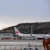 秋田空港へ JAL編