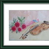 楽器を描く