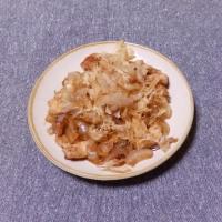 つまみ 鶏肉と玉葱のめんつゆ炒め