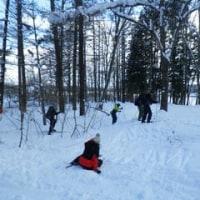 歩くスキー練習