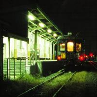 夕暮れの江ノ電と夜のクモハ12 鎌倉高校前 大川 1994-12-10