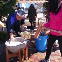 2月12日(日)のつぶやき 餅つき 町内会 福岡市早良区曙 アメリカ ホームステイ 青年 地域の子供達