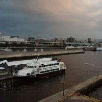 箱崎ふ頭と大型客船