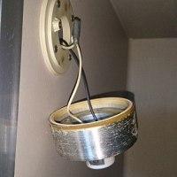 浴室照明器具交換作業 電気工事