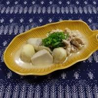 小芋、豚肉ごま煮