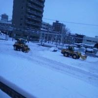 2017/1/23    午前7時半過ぎ札幌の空模様   今日も道内は大荒れ!交通機関に影響大!