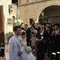 結婚式に行ってきました。おめでとうございます。2017年2月18日 ホテル日航福岡にて【入場でダンスピクチャーポーズ 福岡の社交ダンス教室ダンススクールライジングスター】