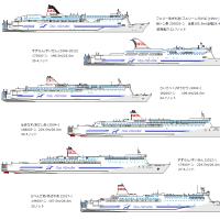新日本海フェリー ペイントイラスト船団完成