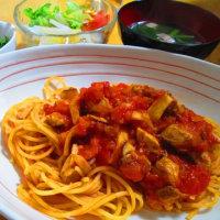 ブリのトマトソーススパゲッティ