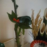 手作り、安上がりな~正月祝い花♪