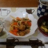 5月30日夕 酢豚とわかめ玉子スープ