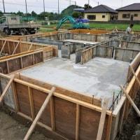 良い家を造って売りたいプロジェクト!『大原分譲地区画No5の家(仮名) 』。基礎工事進行中、7月6日上棟!予定