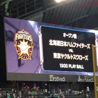 ファイターズ対ヤクルト札幌ドームオープン戦最終日