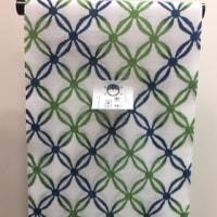 2017新入荷!竺仙ゆかた・綿絽白地に青と緑の七宝柄