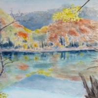 紅葉の白神 十二湖(鶏頭場の池)