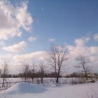 春はまだ遠い北国です。