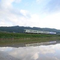 6月4日撮影 しなの鉄道北しなの線 水鏡 その2
