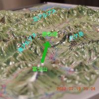 諏訪湖から富士山