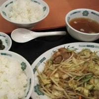 日高屋 肉野菜炒め定食