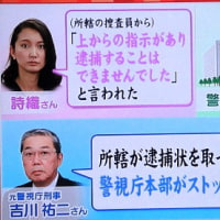 御用ジャーナリスト山口敬之氏の逮捕見送りの件