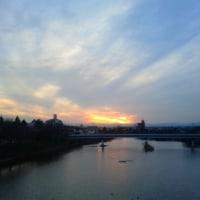 安濃川からの黄昏時