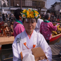 柳川雛祭りさげもんめぐり 水上パレード 沖端水天宮の巫女さん 2017・3・19