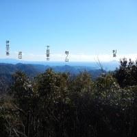 青野川の源頭の山々