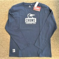 CHUMS L/S Booby Face Logo Dry T-Shirt