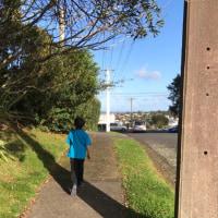 学校の帰り道。